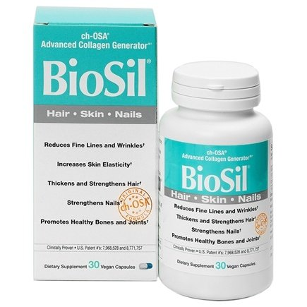 Natural Factors - BioSil cH-OSA Advanced Collagen Generator 5 mg. - 30 Vegetarian Capsules Formerly by Jarrow & Natrol