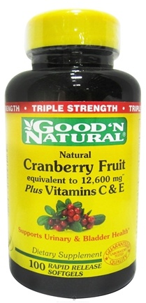 DROPPED: Good 'N Natural - Cranberry Fruit plus Vitamins C and E - 100 Softgels