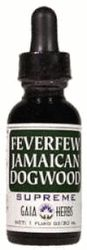 DROPPED: Gaia Herbs - Feverfew/Jamaican Dogwood Supreme - 1 oz.