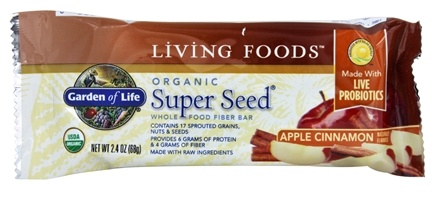 Garden of Life - Organic Super Seed Fiber Bar Apple Cinnamon - 2.4 oz.