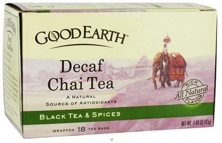 DROPPED: Good Earth Teas - Chai Tea Decaffeinated - 18 Tea Bags