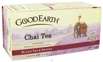 DROPPED: Good Earth Teas - Chai Tea - Black Tea & Spices - 25 Tea Bags CLEARANCE PRICED