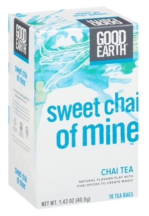 DROPPED: Good Earth Teas - Sweet Chai of Mine Tea - 18 Tea Bags Formerly Vanilla Chai Tea Black Tea, Spices & Vanilla