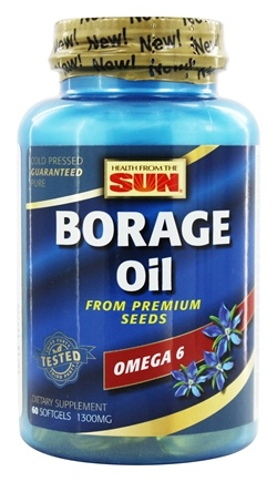 Health From The Sun - Borage Oil 300 mg. - 60 Softgels Formerly GLA