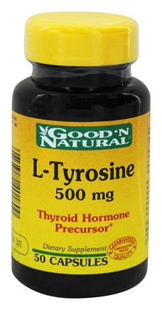 DROPPED: Good 'N Natural - L-Tyrosine 500 mg. - 50 Capsules