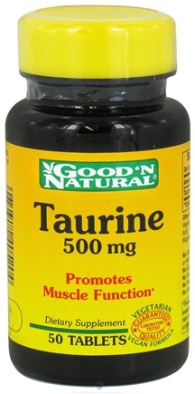 Good 'N Natural - Taurine 500 mg. - 50 Tablets