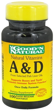 Good 'N Natural - Vitamins A & D - 100 Softgels
