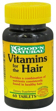 DROPPED: Good 'N Natural - Vitamins for the Hair - 60 Tablets