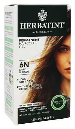 Herbatint - Herbal Haircolor Permanent Gel 6N Dark Blonde - 4.5 oz.