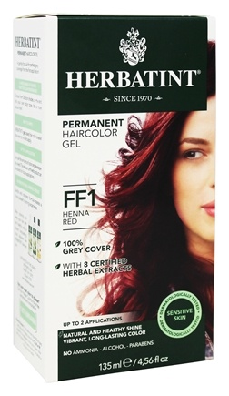 Herbatint - Herbal Haircolor Permanent Gel FF1 Henna Red - 4.5 oz.
