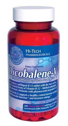 DROPPED: Hi-Tech Pharmaceuticals - Dicobalene-V Cherry - 200 Tablet(s) CLEARANCE PRICED