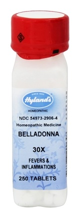 Hylands - Belladonna 30 X - 250 Tablets