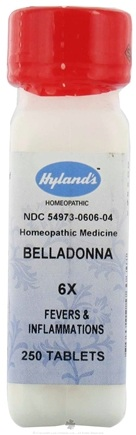 DROPPED: Hylands - Belladonna 6 X - 250 Tablets CLEARANCE PRICED