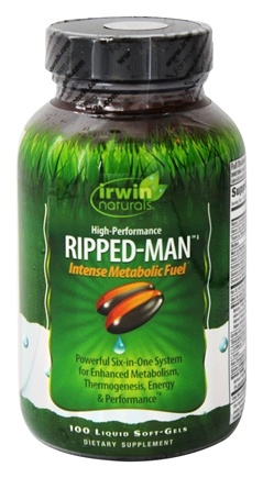 Irwin Naturals - High Performance Ripped-Man Intense Metabolic Fuel - 100 Softgels