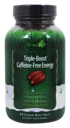 Irwin Naturals - Triple-Boost Caffeine-Free Energy - 75 Softgels