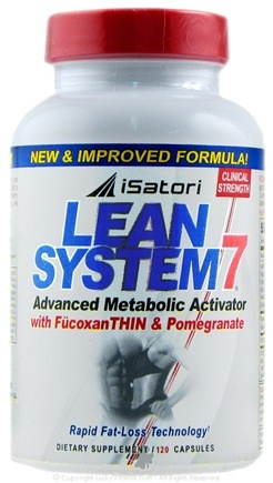 DROPPED: iSatori - Lean System 7 Advanced Metabolic Activator with FucoxanTHIN & Pomegranate - 120 Capsules