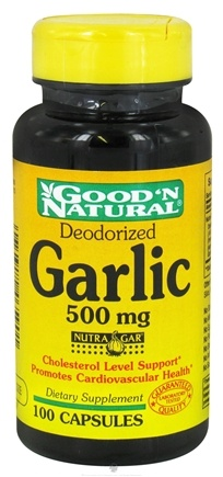 DROPPED: Good 'N Natural - Deodorized Garlic 500 mg. - 100 Capsules CLEARANCE PRICED