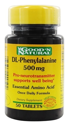 DROPPED: Good 'N Natural - DL-Phenylalenine 500 - 50 Tablets