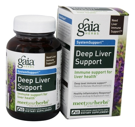 Gaia Herbs - Deep Liver Support Liquid Phyto Capsules - 60 Vegetarian Capsules Formerly Hep Support