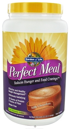 DROPPED: Garden of Life - Perfect Meal Powder Milk Chocolate - 658 Grams