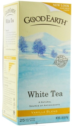 DROPPED: Good Earth Teas - White Tea Vanilla Blend - 25 Tea Bags
