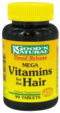 DROPPED: Good 'N Natural - Mega Vitamins For The Hair Timed Release - 90 Tablets