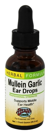Herbs Etc - Mullein Garlic Ear Drops Professional Strength - 1 oz.