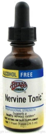 DROPPED: Herbs Etc - Nervine Tonic- Alcohol Free - 1 oz.
