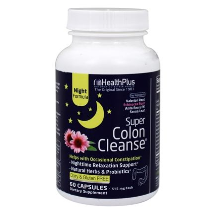 Health Plus - Super Colon Cleanse Night Formula 500 mg. - 90 Capsules