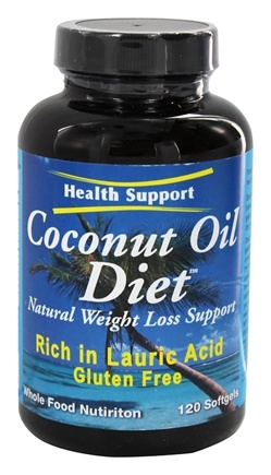 Health Support - Coconut Oil Diet Natural Weight Loss Support - 120 Softgels