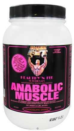 DROPPED: Healthy N' Fit - Anabolic Muscle Protein Chocolate Shake - 3.5 lbs. CLEARANCED PRICED