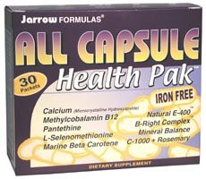 DROPPED: Jarrow Formulas - All Capsule Health Pak - 30 Packet(s)