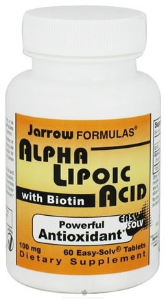 DROPPED: Jarrow Formulas - Alpha Lipoic Acid with Biotin 100 mg. - 60 Tablets CLEARANCE PRICED