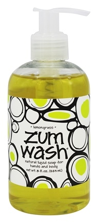 Indigo Wild - Zum Wash Natural Liquid Hand & Body Soap Lemongrass - 8 oz.