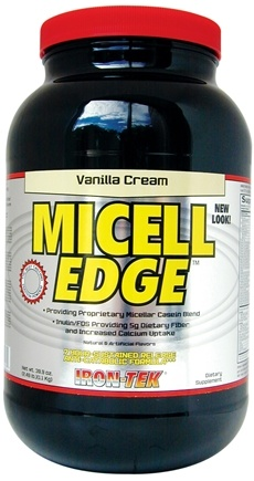 DROPPED: Iron Tek - Micell Edge Protein Blend Powder Vanilla Cream - 39.9 oz.