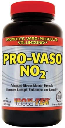 DROPPED: Iron Tek - Pro-Vaso NO2 - 90 Vegetarian Capsules