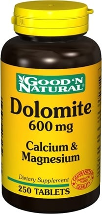 DROPPED: Good 'N Natural - Dolomite Calcium & Magnesium 600 mg. - 250 Tablets CLEARANCE PRICED