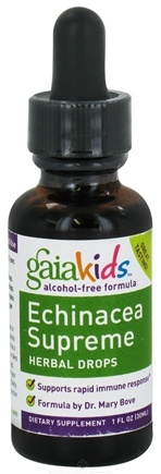 DROPPED: Gaia Herbs - GaiaKids Echinacea Supreme Herbal Drops - 1 oz.