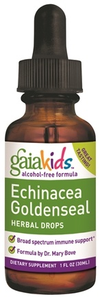 DROPPED: Gaia Herbs - GaiaKids Echinacea Goldenseal Herbal Drops - 1 oz. CLEARANCE PRICED