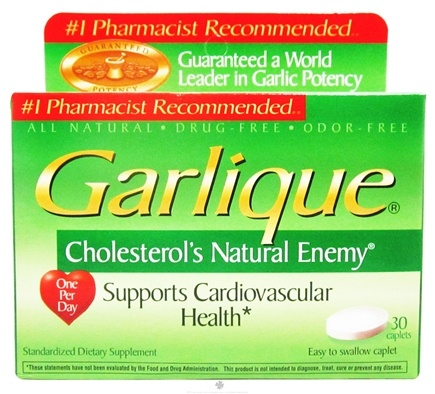 Garlique - Cholesterol's Natural Enemy - 30 Caplets