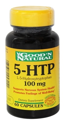 DROPPED: Good 'N Natural - 5-HTP L-5-Hydroxytryptophan 100 mg. - 60 Capsules