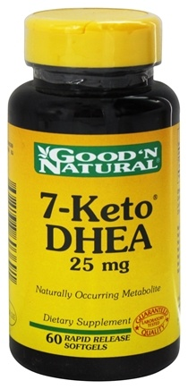 Good 'N Natural - 7-Keto DHEA 25 mg. - 60 Softgels