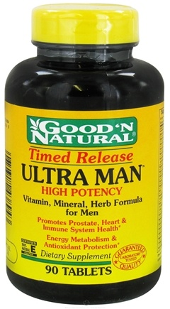 DROPPED: Good 'N Natural - Ultra Man Timed Released High Potency - 90 Tablets