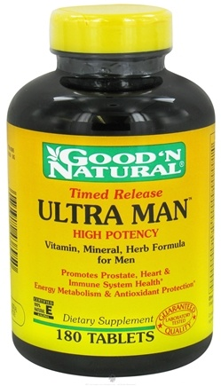DROPPED: Good 'N Natural - Ultra Man Time Release - 180 Tablets