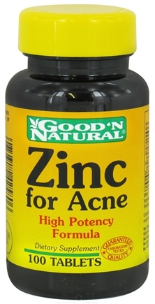 Good 'N Natural - Zinc For Acne - 100 Tablets