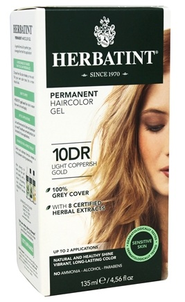 Herbatint - Herbal Haircolor Permanent Gel 10DR Light Copperish Gold - 4.5 oz.
