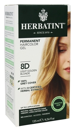 Herbatint - Herbal Haircolor Permanent Gel 8D Light Golden Blonde - 4.5 oz.