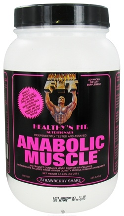 DROPPED: Healthy N' Fit - Anabolic Muscle Protein Strawberry Shake - 3.5 lbs. CLEARANCE PRICED