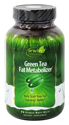 Irwin Naturals - Green Tea Fat Metabolizer - 75 Liquid SoftGels
