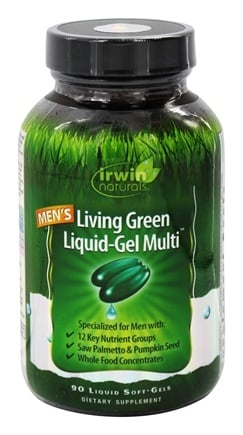 Irwin Naturals - Living Green Liquid-Gel Multi For Men - 90 Softgels